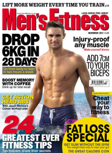 mens fitness cover - highest visual impact figure