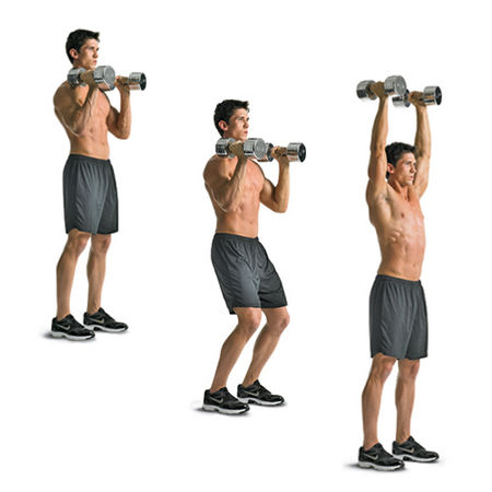 Push-Press-dumbbell