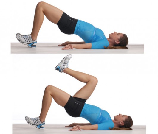 Single Leg Glute Bridge March