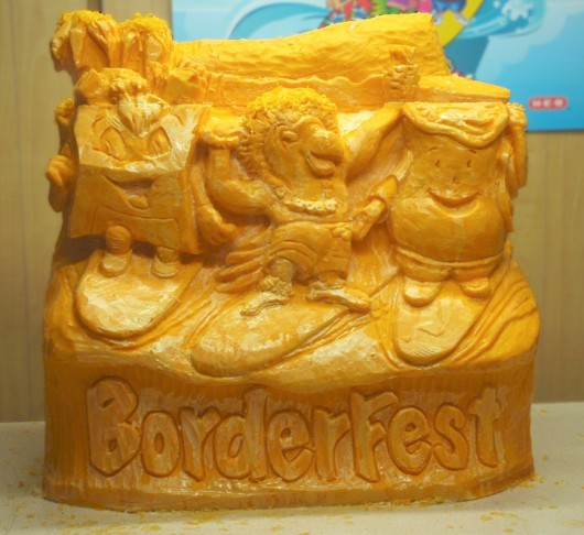 just look  don u0026 39 t eat  these amazing sculptures made of chocoloate  butter and cheese will make