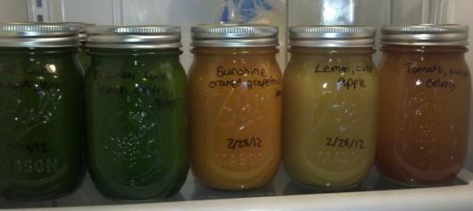juice in fridge