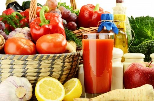 veggies and juice