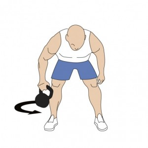 Kettlebell Figure Eight