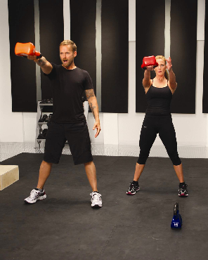 Bob Harper Working Out With Kettlebells
