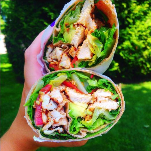 Healthy Chicken Salad Wrap