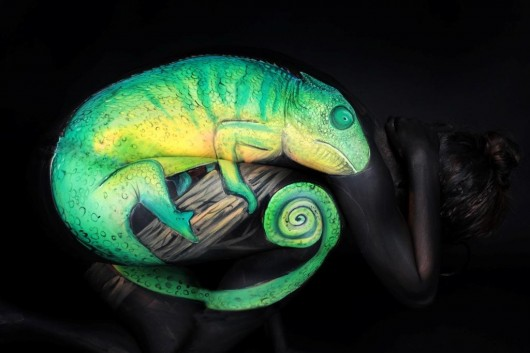 Chameleon Body Art by Gesine Marwedel