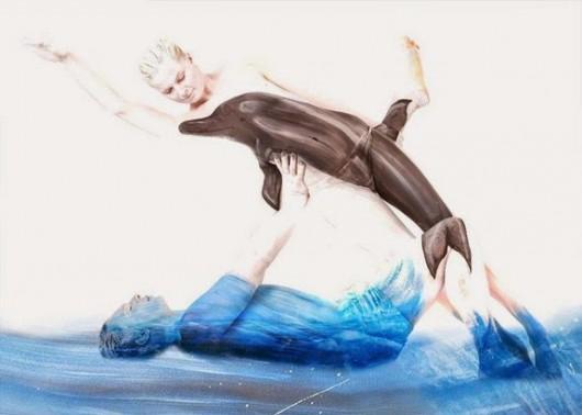 Dolphins Body Art by Gesine Marwedel-2