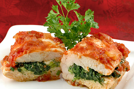 Feta and Spinach Stuffed Chicken Breast