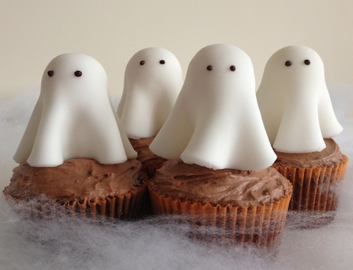 Ghost Cupcake Toppers