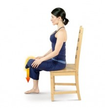 Left Chair Hip Stretch