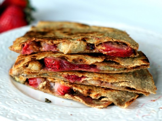 Peanut Butter Strawberry and Banana Crepes