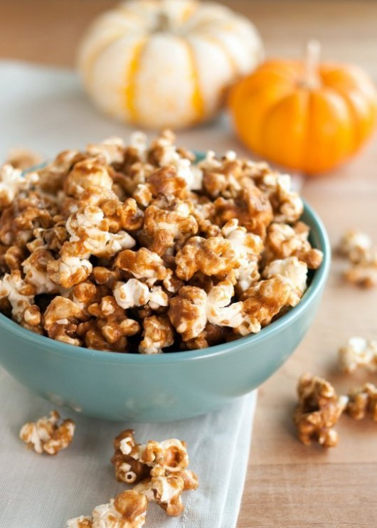 Pumpkin Spice Carmel Popcorn