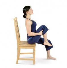 Seated Left Knee to Chest Pose