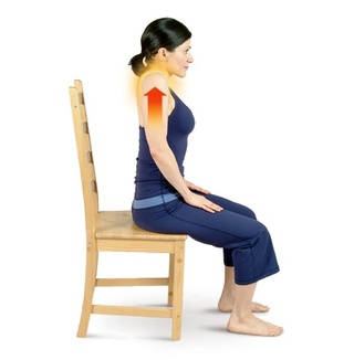 Seated Mountain Pose With Shoulder Shrugs