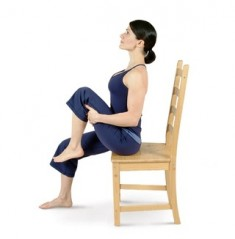 Seated Right Knee to Chest Pose