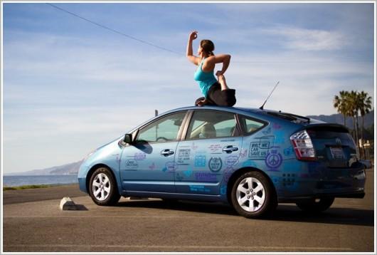 Yoga on the Car