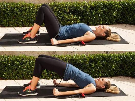 Elastic Band Glute Bridge