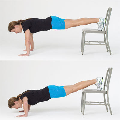 Raised-feet push-up