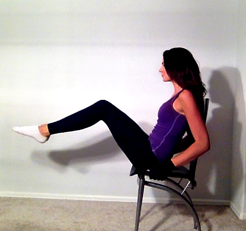 Seated Knee Lifts With Chair