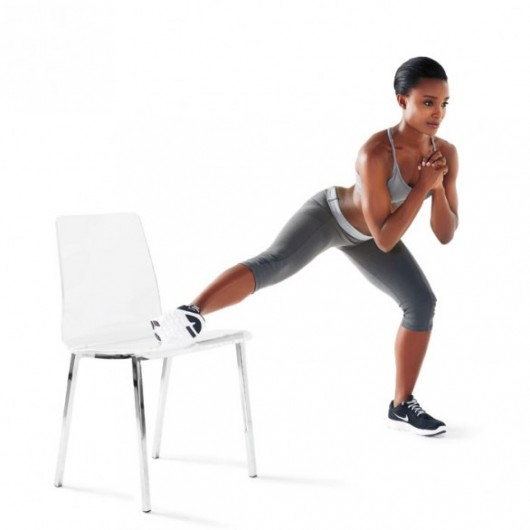 Get fit where you sit with this 10 minute chair workout for Chair exercises