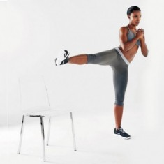 Side Lunge With Leg up