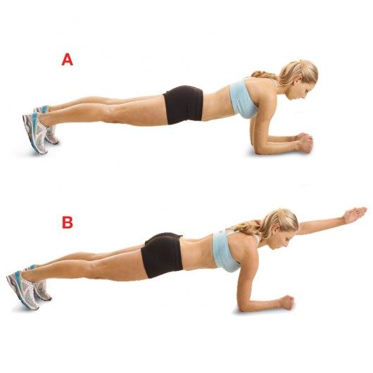 Single Arm Plank