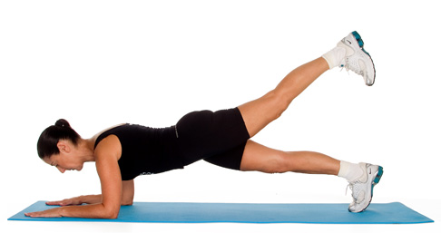 15 plank variations to strengthen your core and tone your for Floor y raise