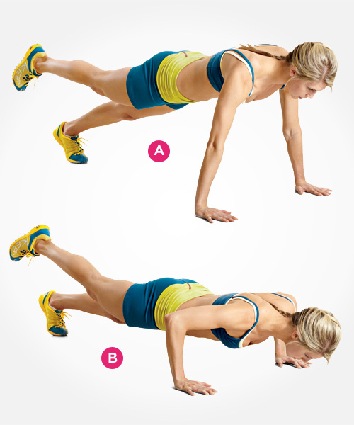Alternating Hand and Single Leg Push-Up