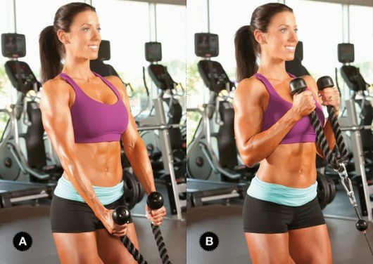 Cable Standing Biceps Curl