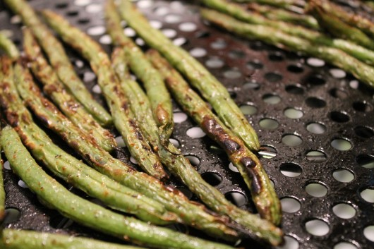 Charred beans & Peas