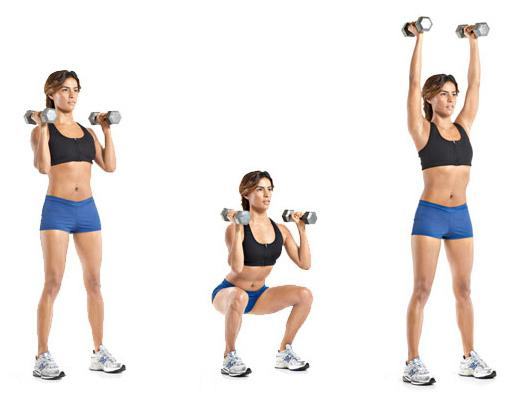 Dumbbell Thruster