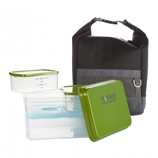 Fit and Fresh Men's Sporty Lunch Bag Kit