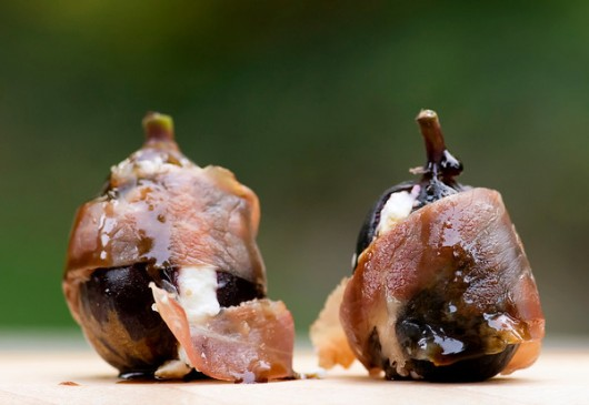 Goat Cheese Proscuitto Wrapped Figs