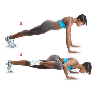 Knee-To-Elbow Push-Up