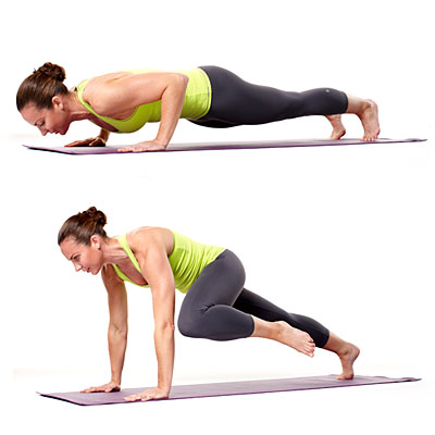 Knee to Chest Push-Up