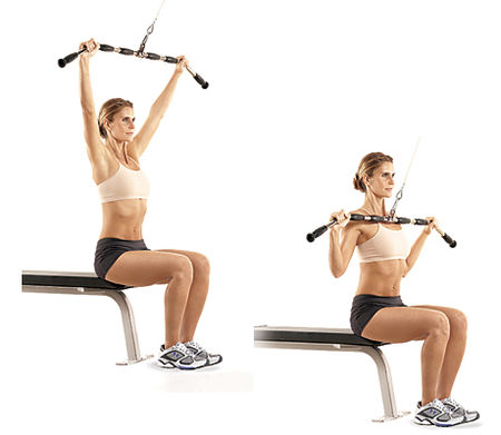 Machine Lat Pull Down