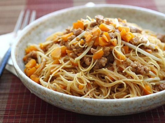 Pumpkin and Minced Pork Bee Hoon