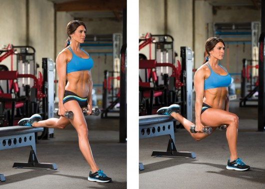 Rear Foot Elevated Split Squat with Single-Arm Row