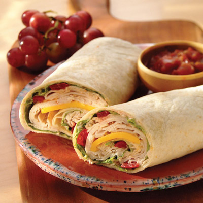 Rolled Club Sandwich Wrap
