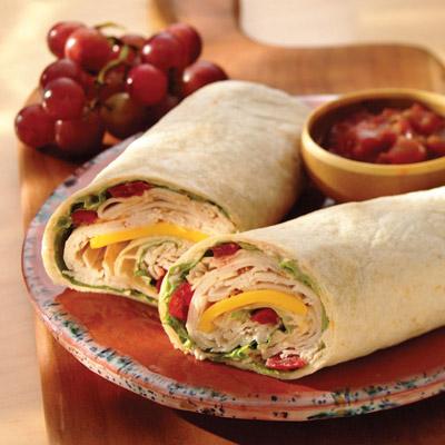 Rolled Club Sandwich Wrap