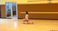 Weighted Walking Lunges