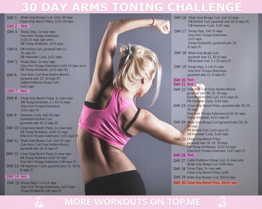 30 Day Arm Toning Challenge