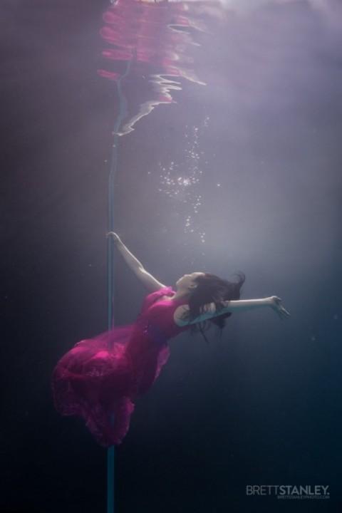 Brett Stanley Underwater Pole Dancing