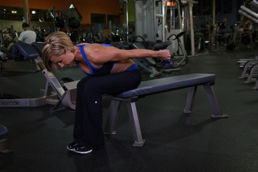 Alternate Seated Bent Over Kickback