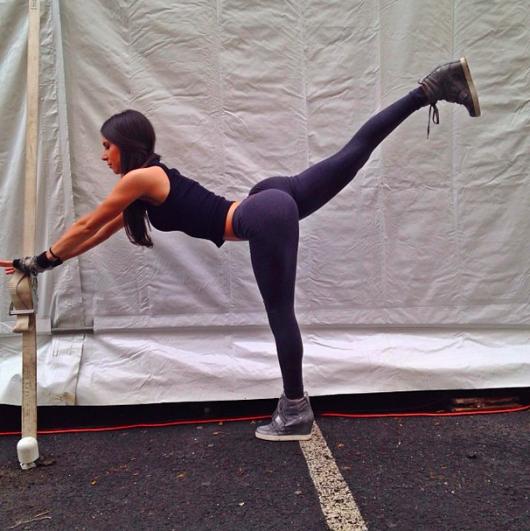 Jen Selter Back Kick