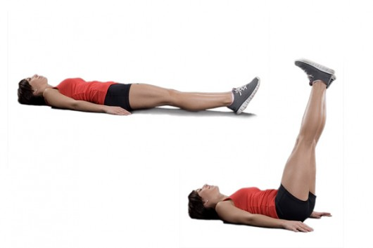 Leg Drops Exercise