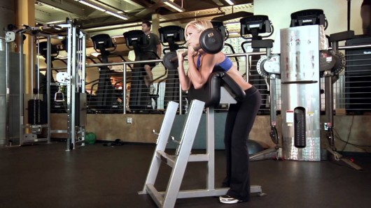 Dumbbell Spider Curl