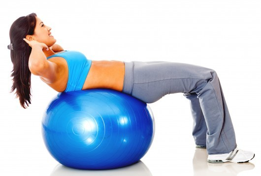 20-Minute Full-Body Exercise Ball Workout