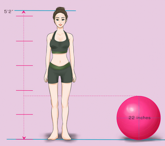 Right Size Exercise Ball