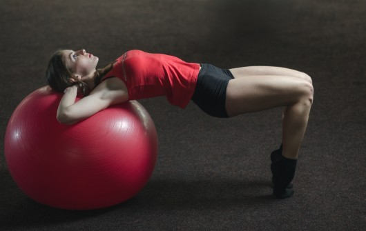 Exercise balls can add fun and challenge to your workouts.